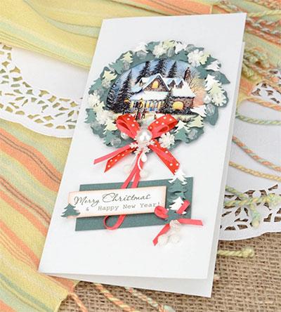 Postales de navidad hechas a mano tarjetas artesanales - Tarjetas de navidad artesanales ...